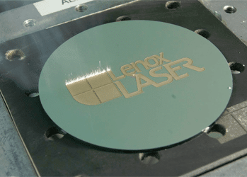 Laser Marking on a Disc