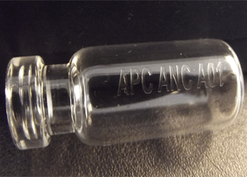 Laser Marking on a Glass Vial